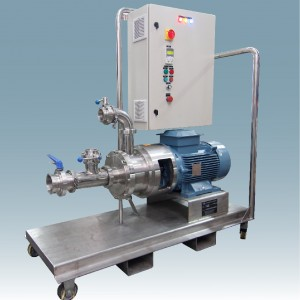Inline High Shear Mixer 430 on mobile trolley with panel control